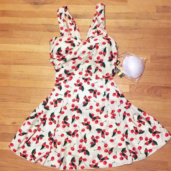 9912e0ae03161 She Hang Swim | Nwt Curvy Rockabilly Cherries Suit Dress 18 | Poshmark
